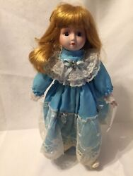 """Vintage Heritage Dolls Porcelain Musical Doll 16"""" Oh What A Beautiful Day Tag"""