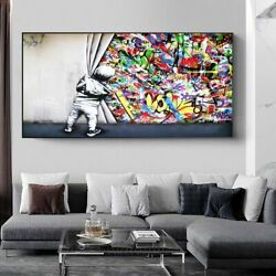 Graffiti Art Painting On Canvas Posters Prints Street Wall Picture Living Room