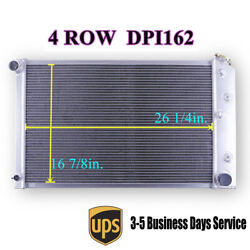 4 Row Core Radiator For 78-87 G-body Chevy Monte Carlo Buick Regal Olds Cutlass