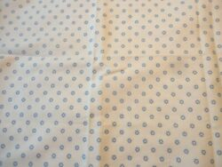 Vintage Fabric Medium Weight Cotton Blue amp; White Floral Print 2 Yards 44quot;W