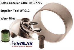 Solas Seadoo Impeller W/ Wear Ring And Tool Srx-cd-14/19 Rxtx 255 Rxt Rxp Wake 215