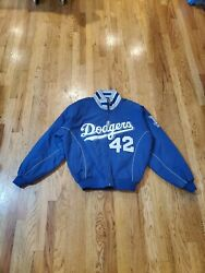 Majestic Authentic Collection Jackie Robinson Dodgers Jacket Mens Medium
