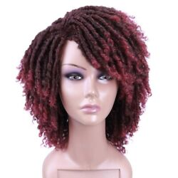 Dreadlock Wig Short Twist Wigs for Black Women and Men Afro Curly Synthetic Wig $19.90