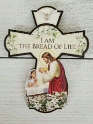 6quot; Tall Wood First Communion Cross for Girl $6.99
