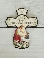 6quot; Tall Wood First Communion Cross for Boy $6.99
