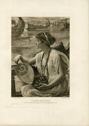 A Roman Boat Race Engraved By J. Dobie In One Masterpiece Of E.j.pointer