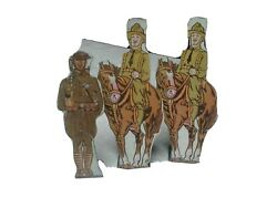 Marx Soldiers Tin Target Lot Of 3 United States Cavalry Infantry