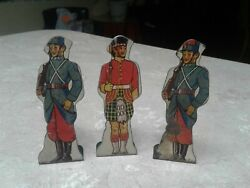 Marx Soldiers Tin Target Lot Of 3 French Infantry Gordon Highlanders