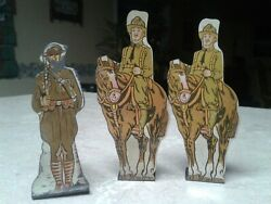Marx Soldiers Tin Targets U.s. Cavalry American Infantry Vintage Historical