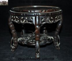 8 Old Chinese Rosewood Wood Carved Bonsai Potted Plant Stand Flower Pot Base
