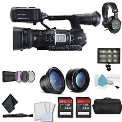 Jvc Gy-hm620 Prohd Mobile News Camera For Professional Video Recording Bundle +s