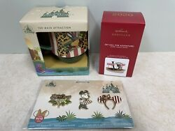 New Minnie Mouse Main Attraction Jungle Cruise Mug And Pins And Hallmark Ornament