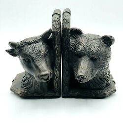 Bookends Stock Market Bull And Bear  Book Ends Heavy