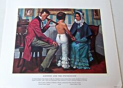 Laennec And The Stethoscope -the Art Of Medicine Vintage Offset Litho