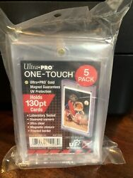 Ultra Pro One-touch Thick Card 130pt Point Magnetic Card Holder - 5 Pack