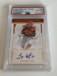 2016 Tyreek Hill National Treasures Rookie Auto Gold 19/25 Rc Psa 8 🔥