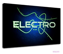 The Electro House Music Digital Illustration Canvas Wall Art Picture Print