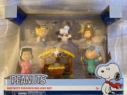 Peanuts Nativity Holiday Pvc Figurine Collector Set New Charlie Brown, Snoopy