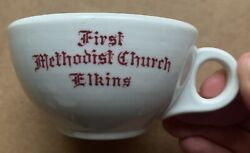 1948 First Methodist Church Carr China Restaurant Ware Coffee Cup Elkins Wv