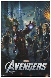 Avengers Cast And Stan Lee Signed Poster. Celeb Auth Coa