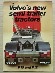 Volvo F10 And F12 Semi Trailer Tractors Commercial Sales Brochure 1980s Rsp 69421