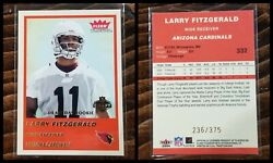 Larry Fitzgerald 2004 Fleer Tradition 332 236/375 Draft Day Gold Edition
