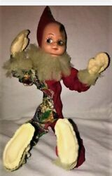 Antique Vintage Posable Bendable 1950and039s Pixie Elf Jester Doll