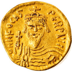 [858468] Coin Phocas Solidus 603-607 Constantinople Ef40-45 Gold