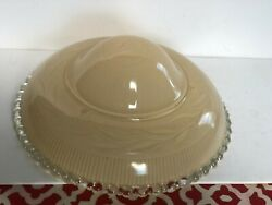 Vintage Cream Glass Dome Light Cover Shade 11quot; Mid Century
