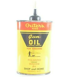 Vintage Outers 445 Gun Oil Tin Can Oval For Firearms Onalasca, Wisconsin Usa