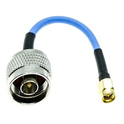 N Type Male To Sma Male Rg402 Rg-402 Lot Semi Flexible Coax Cable Blue