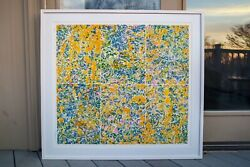 George Chemeche Composed Field Ii 1979lithograph -andnbsp40.5 W X 37.25andrdquo H.