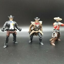 Chap Mei Wild West Action Figures Sheriff Wyatt Buffalo Bill And Nasty Ned Cowboys
