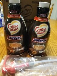 Nestle Coffee-mate Coffee Creamer Snickers Liquid Pump Bottle 50.7 Oz Pack Of 2