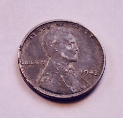 1943-p No Mint Mark 1c Lincoln Silver Steel Wheat Penny Wwii Wartime Cent