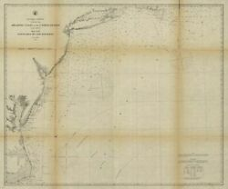 1863 Map  Atlantic Coast Of The United States In Four Sheets, Sheet No. Ii, Na