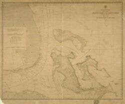 1863 Map  Atlantic Coast Of The United States In Four Sheets Sheet No. Iv, M