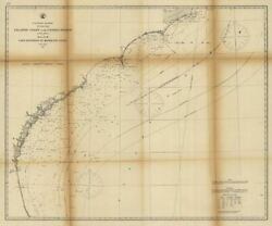 1863 Map  Atlantic Coast Of The United States In Four Sheets Sheet No. Iii,