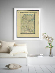 1862 Map  The March From Hampton To Before Yorktown Va. April 1862. Map Showin