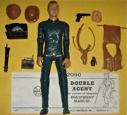 Mike Hazard Double Agent Figure Manual And 10 Accessories Marx Johnny West 2090