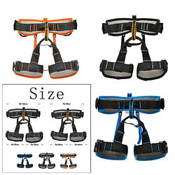 Deluxe Half Body Harness Mountaineering Sitting Belt Caving Fall Protection