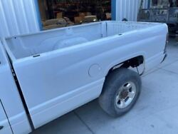 94-02 Dodge Ram 2500 Used White 8and039 Long Bed Box W Tailgate Damaged