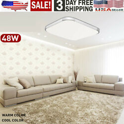 72w Modern Led Dimmable Ceiling Light Fixture Flush Mount Hanging Lamp And Remote