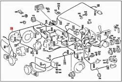 Genuine Mercedes Sl R107 Cable Harness A1075400506