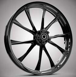 """23 X 3.75"""" Relay Blackline Front And Rear Wheels - 2000-up Harley Touring"""