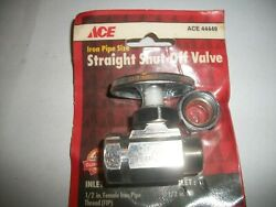 Ace P/n 44449 Straight Shut-off Valve Inlet 1/2 Female Outlet 1/2 Od Usa