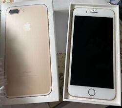 Apple Iphone 7 Plus - 128gb - Gold And Accessories Atandt - Mint Condition
