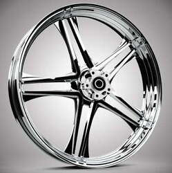 """Discharge Chrome 19 X 3.0"""" Front And Rear Wheels - 2014-up Harley Touring Bagger"""