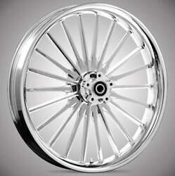 Pulse Chrome 19 X 3.0andrdquo Front And Rear Wheels - 2014-up Harley Touring Bagger