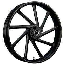 """21 X 3.5"""" Front Kinetic Black Front Wheel Rotors Tire - Harley Touring Bagger"""